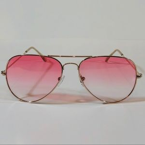 Other - Pink Lens Aviator Sunglasses